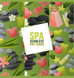 Spa stone seamless pattern zen stony vector