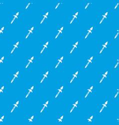 Spear pattern seamless blue vector
