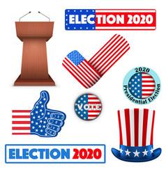 Symbols usa election 2020 vector