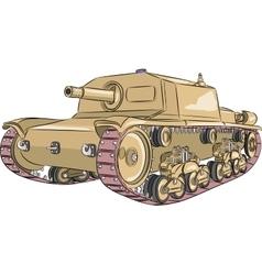 Tank M 42 vector image