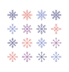 the snowflake set vector image