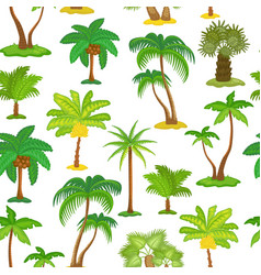 tropical palm tree seamless pattern - different vector image
