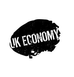 Uk economy rubber stamp vector