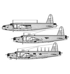 vickers wellington vector image