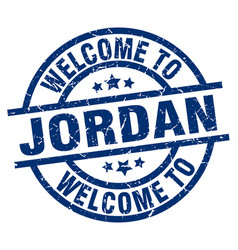 Welcome to jordan blue stamp vector