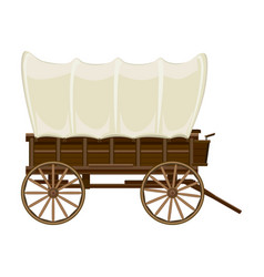 Wild west wagon iconcartoon icon vector