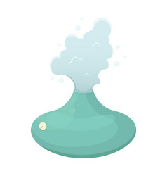 With a humidifier healthy climate in house vector
