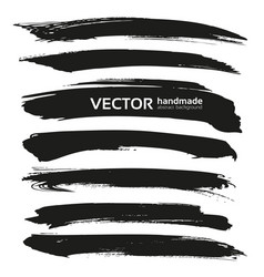 abstract black brush strokes isolated on a vector image vector image