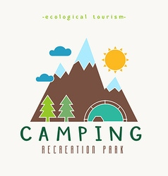 Camping Recreation Park Simple Label vector image