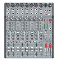 eight channels professional studio sound mixer vector image vector image