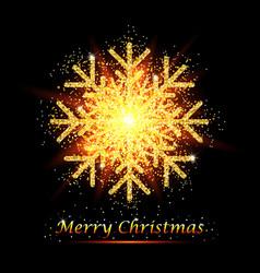 golden glitter gorgeous snowflake luxurious vector image