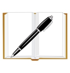 Note pad and handle vector image vector image