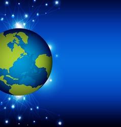 world and telecommunication vector image