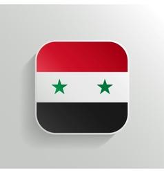 Button - Syria Flag Icon vector image vector image