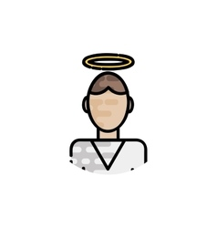 Christianity flat icon vector image vector image
