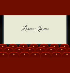 Cinema hall with glowing blank vector