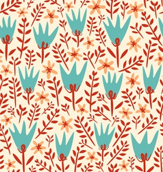 Field flowers pattern vector image vector image