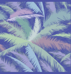 floral pattern palm tree leaves summer tropical vector image vector image