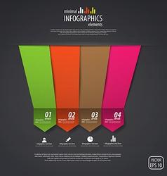 Minimal infographics design elements vector image vector image