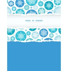 Round Snowflakes Vertical Torn Frame Seamless vector image
