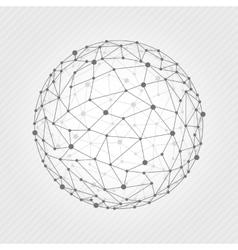 Wireframe mesh ball vector
