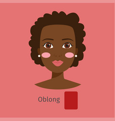woman face type oblong vector image