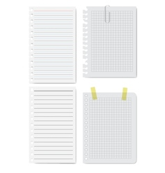 Collection of white papers vector image