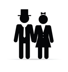 couple young in black color vector image