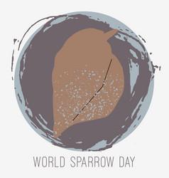 creative of sparrow vector image