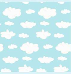 cute seamless clouds pattern vector image vector image