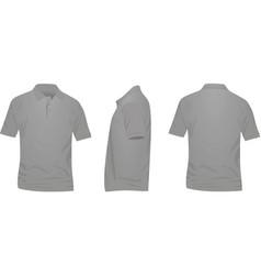 Gray polo t shirt vector