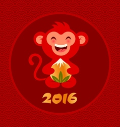 red monkey vector image