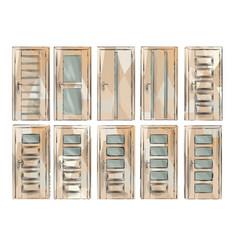 set of door4 vector image vector image