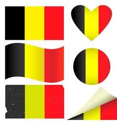 Belgium flags set vector image vector image