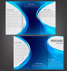 brochure business template design with blue vector image