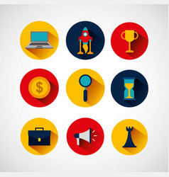 business startup concept icons vector image