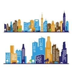 color city vector image