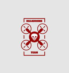 drone quadrocopter icon emblem vector image