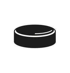 hockey puck isolated on white background vector image vector image