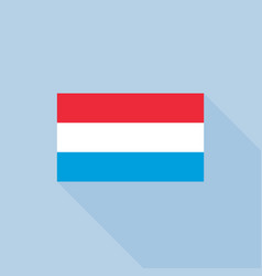 luxembourg flag flat design with officia vector image