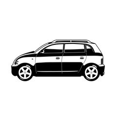 small utilitie car vector image