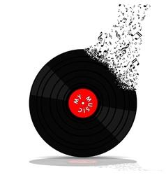 Vinyl record-LP music vector image vector image