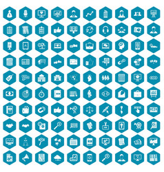100 business training icons sapphirine violet vector