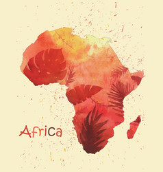 a stylized image of africa map vector image