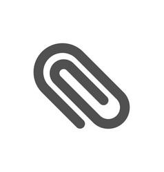Attach icon attachment paper clip sign vector