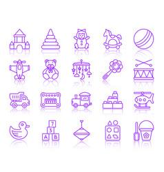 Batoy simple color line icons set vector