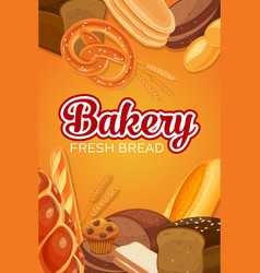 Bread products vector