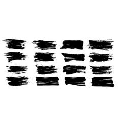 Brush stroke ink splashes stencil vector