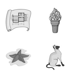 building travel and other monochrome icon in vector image