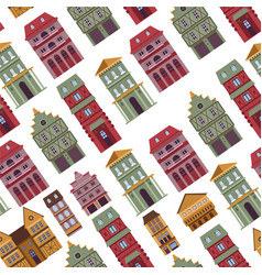 buildings old town antique architecture vector image